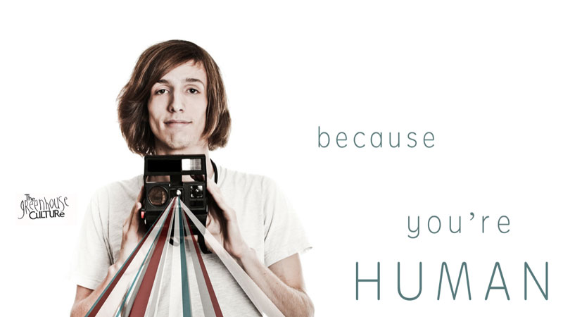 Because You're Human sermon series art